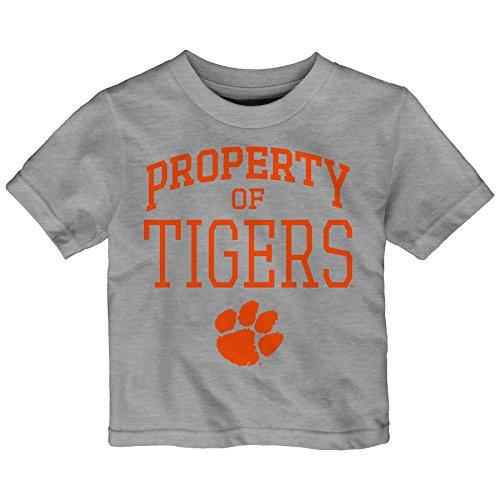 NCAA Clemson Tigers Infant Team Property Short Sleeve Tee, 18 Months, Heather Grey