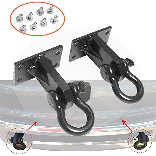 2P Front Tow Hooks for Dodge Ram 2500/3500 2010-2018 Custom Heavy Duty with Hardware