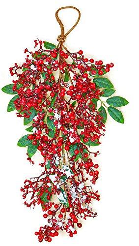 Worth Imports 24 Inch Snowy Berry Teardrop RNUM-Inch