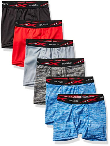 Hanes Boys' Boxer Brief, Assorted Space Dyes & Solids, Large