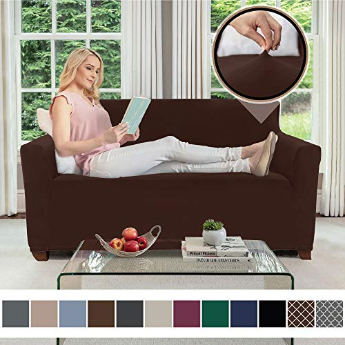 Gorilla Grip Original Velvet Fitted 1 Piece Loveseat Slipcover, Stretch Up to 54