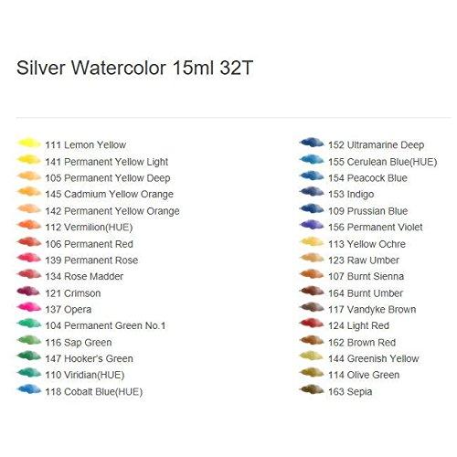 Watercolor Paint Alpha Silver label Set 32 Colors 15ml 0.50oz Tube