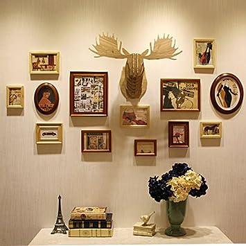 American Style Massivholz Photo Wall Foto Rahmen Foto Wand Dekoration  Wohnzimmer Wand Dekoration MalereiDassMisch Box