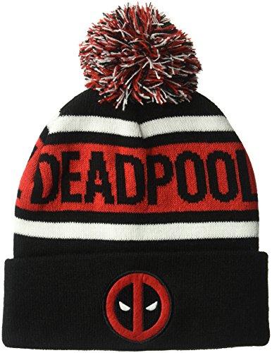 Marvel Men's Deadpole Pom, Black, One Size