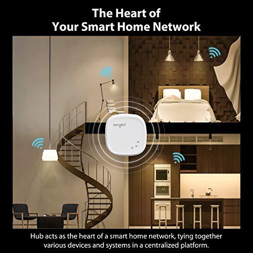 Sengled Smart Light Bulb Starter Kit, Work with Alexa & Google Home, Support 2.4G&5G, Dimmable A19 Alexa Smart Bulbs, 9W 2700K Smart LED Soft White Light, 2 Smart Bulbs & 1 Smart Hub