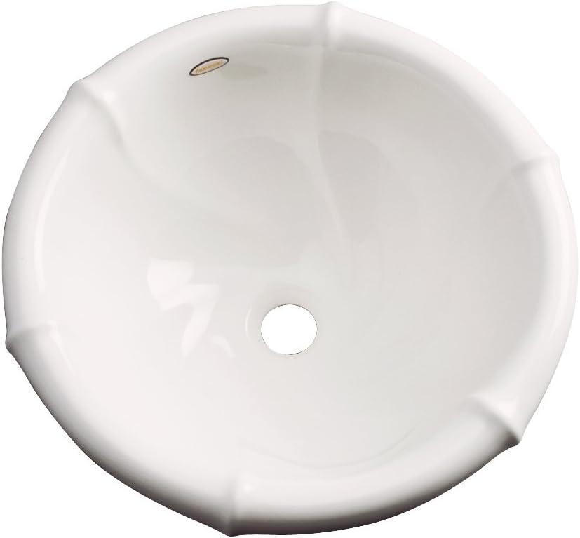 Dekor Sinks 77003 Siesta Cast Acrylic Self Rimming Bathroom Sink, Biscuit