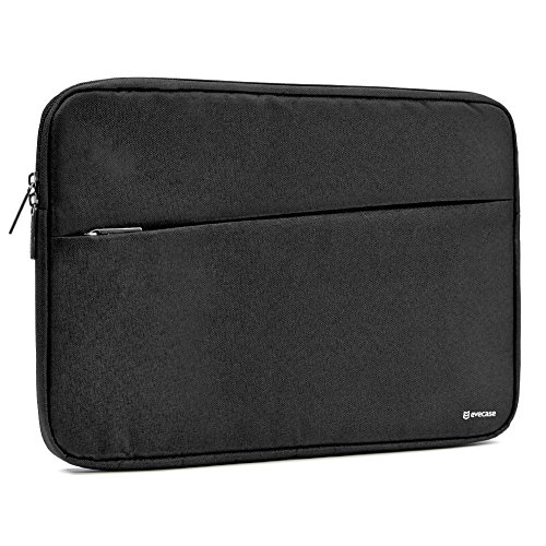 15.6 inch Laptop Sleeve, Evecase Water Repellent Shockproof Portable Carrying Sleeve Protective Case Bag with Accessory Pocket for 15-15.6 Inch MacBook Pro, Notebook Ultrabook - (Compact Neoprene Pouch)