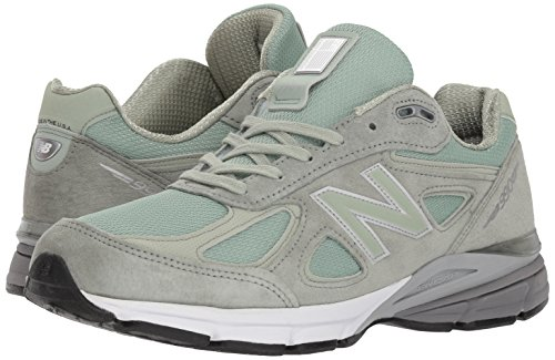 New Balance Men's 990v4 Running Shoe, Silver Mint/White, 7 D US