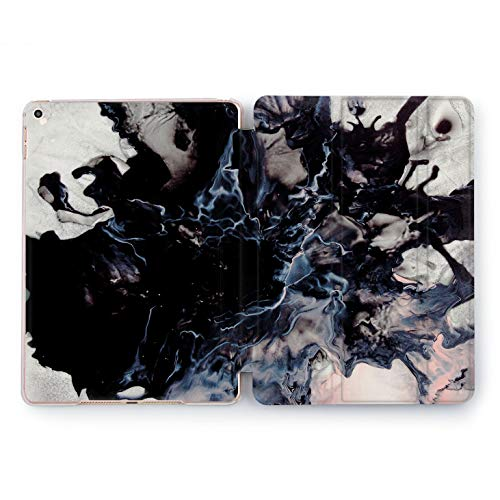Wonder Wild Manly Apple New iPad Case 9.7 inch Mini 1 2 3 4 Air 2 10.5 12.9 2018 2017 Cover Skin Texture Print Design Clear Smart Stand Unique Black Marble Boss Gift Stone Rock Splash Plastic -