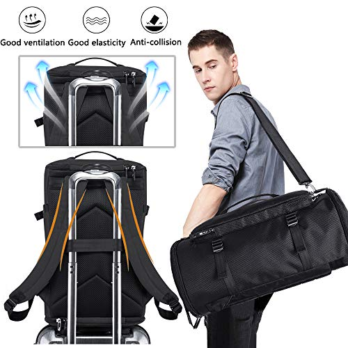 KAKA Travel Duffel Backpack, Outdoor Travel Bag with Shoe Compartment, Laptop Bookbag Weekender Overnight Carry On Daypack Water-Resistant College Bookbag Camping Rucksack Luggage for Men and Women…
