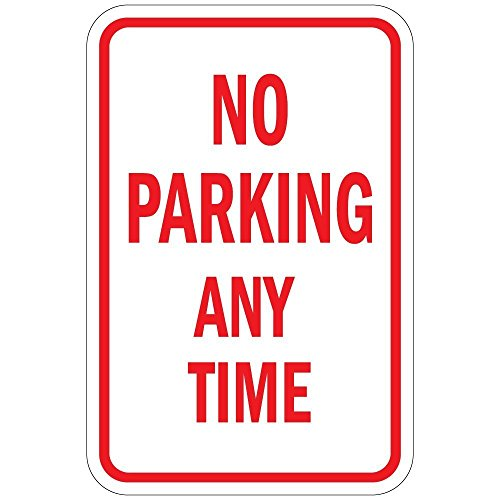 No Parking Signs Personalized (Poieloi No Parking Any Time Aluminu Metal Street Sign 12