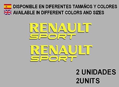 Yellow Ecoshirt 13-WTIO-I6GV Stickers Renault Sport F74 Vinyl Adesivi Decal Aufkleber Racing Stickers Car Voiture