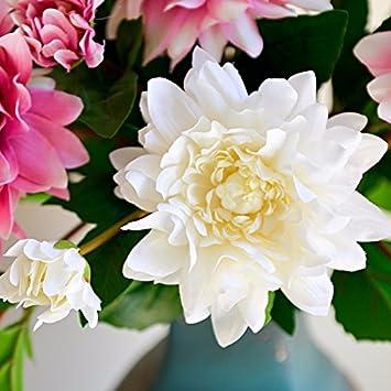 Amazon De Emulation Blume Weiss Rosa Grun Pivoine Blume Hochzeit