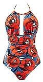 B2prity Women's One Piece Swimwear Backless Tummy Control Monokini Swimsuits (18, L/US(12-14))