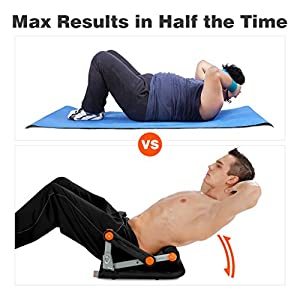 Finether Smart Core Ab Exercise Trainer|Core Smart and Twister Board Fitness Equipment Home Workout/Home Gym, Black/Orange