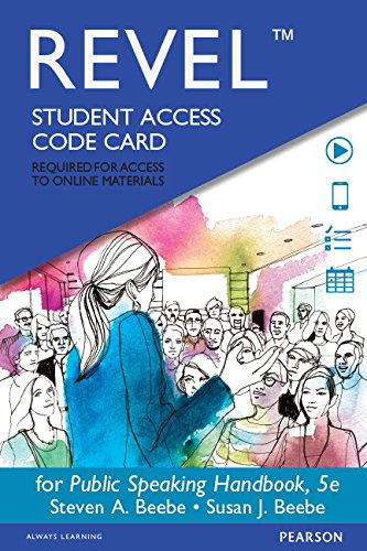 Public Speaking Hdbk. Revel Access Card