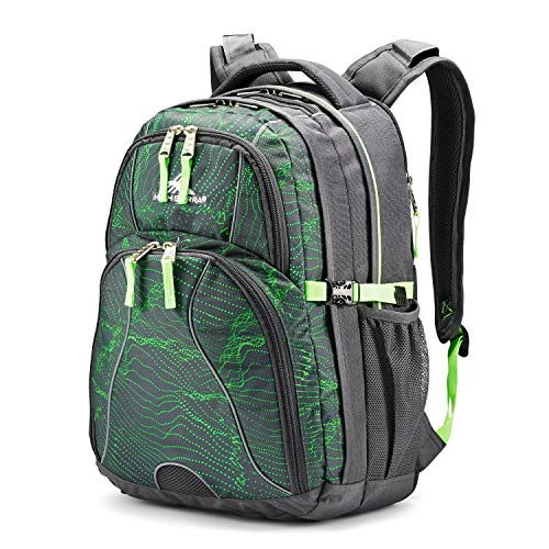 (High Sierra Swerve Laptop Backpack, Light Wave/Mercury/Lime)