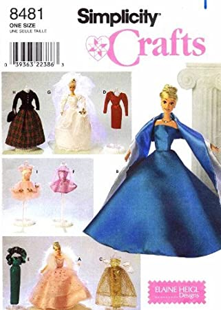 Amazon.com: Simplicity Barbie Doll Clothing Patterns Crafts Sewing ...