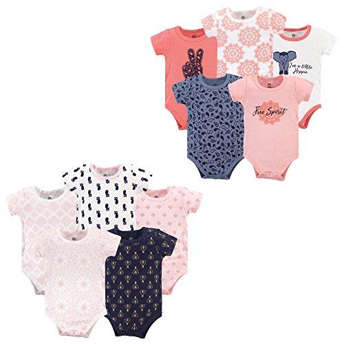 7759fdd495 Yoga Sprout Baby Cotton Bodysuit, Free Spirit, Moroccan Pink, 12-18 Months