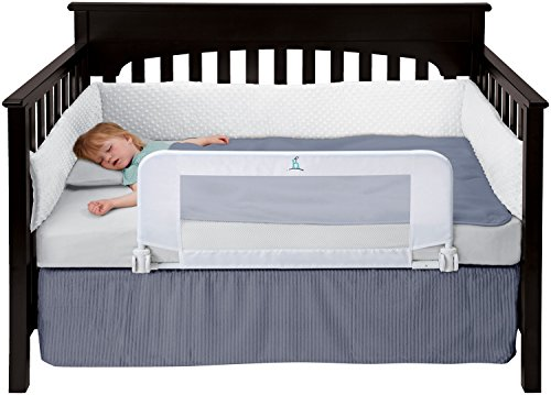 hiccapop Convertible Crib Toddler Bed Rail Guard with Reinforced Anchor Safety - Classic Guard Rail
