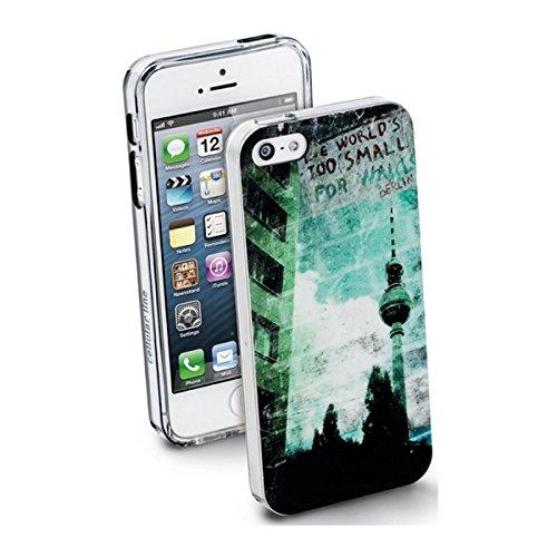 Cellular Line CITYIPHONE54 Berlin Backcover für Apple iPhone 5 inkl. Displayschutzfolie, Mikrofasertuch