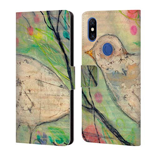 (Official Wyanne Serenity Birds Leather Book Wallet Case Cover Compatible for Xiaomi Mi Mix 3)