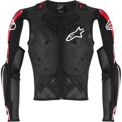 Alpinestars Bionic Pro Jacket Men's Protector MX Motorcycle Body Armor - Black/Red / Large (Alpinestars Armor Jacket)