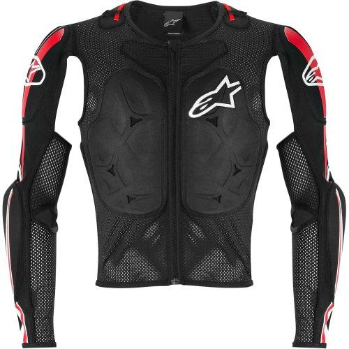 Alpinestars Bionic Jacket (Alpinestars Bionic Pro Jacket Men's Protector MX Motorcycle Body Armor - Black/Red / Large)