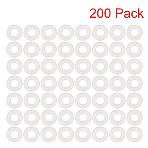 - 200 Pack Size M5 Plastic Clear Nylon Washer Shim Spacer Washer Gasket Rings Eyelets O-Ring Flat (M5)