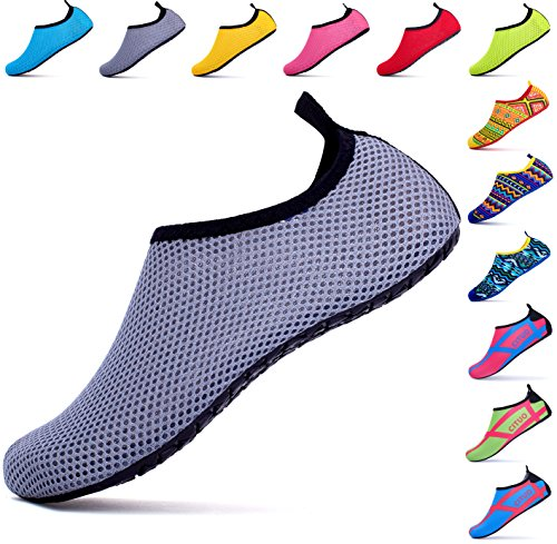Giotto Barefoot Water Schoenen Yoga Beach Swim Aqua Schoenen Voor Dames Heren Mesh / Grijs