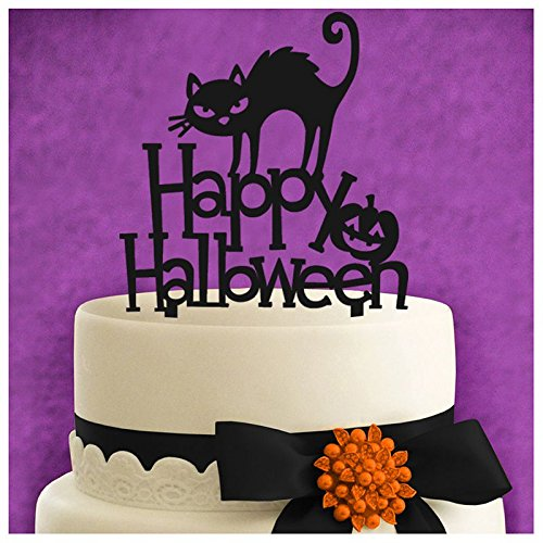 Other Cake Tools - Halloween Black Cat Pumpkin English Letter Cake Set Exquisite Decoration Party Birthday Insert - Sprinkles Case Turntable Hulk Organizer Pens Jungle Smoother Siwa Dvds L -