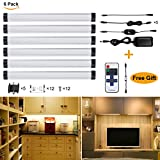 Light Kitchen Cabinets S&G 3000K(Warm White) Dimmable LED Under Cabinet Light Ultra Thin Under Counter Lighting 6pcs Panel Lights Included And Fixed With 3M Sticker Remote Control Buget-friendly