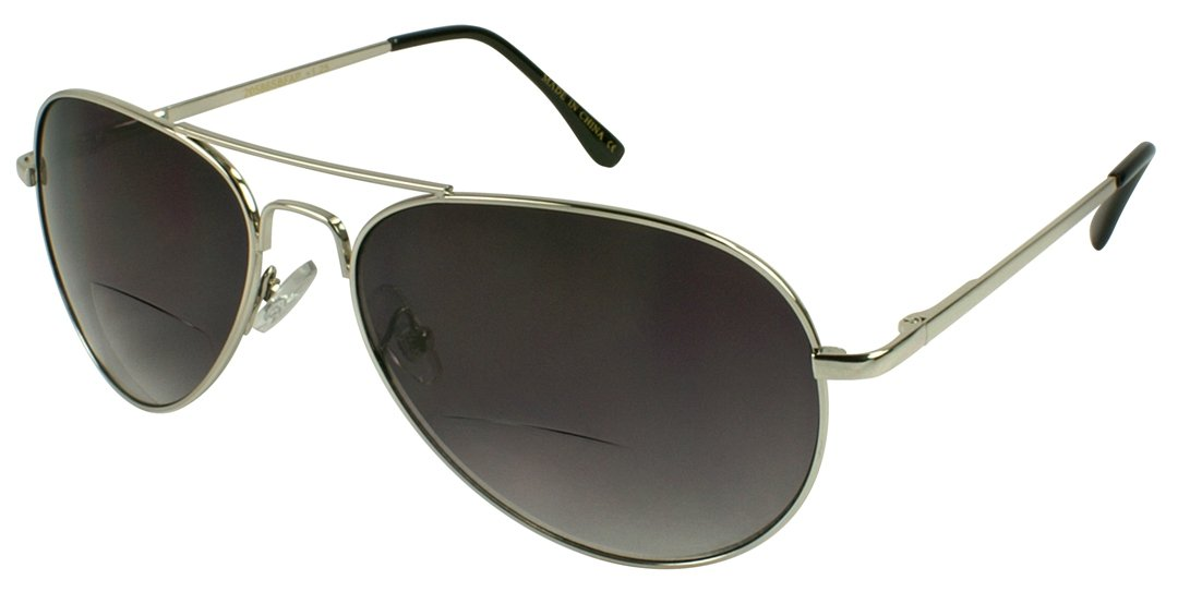 a0f897d0db Amazon.com  Edge I-Wear Metal Aviators Bifocal Reading Sunglasses Women Sun  Reader for Men Spring Hinge 2.75 20586SBF+2.75-3(Matte Gunmetal)  Health ...