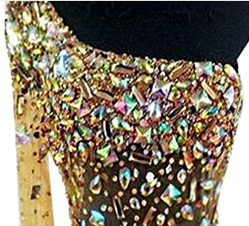 Goldfarben Diamant Pailletten Banquet Damen Ballkleid Shoulder emmani One wq7x0H