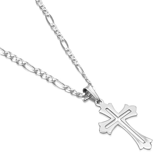 """LARGE 3/"""" CROSS pendant 925 STERLING SILVER 4 MM ROPE ITALIAN chain necklace men"""