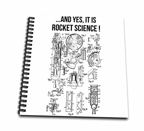 3dRose Carsten Reisinger - Illustrations - Yes It is Rocket Science Funny Rocket Engine Diagram - Memory Book 12 x 12 inch (db_282675_2) (Rocket Science 2 Wire)