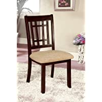 Furniture of America Mainstream Dining Chair, Dark Cherry, Set of 2