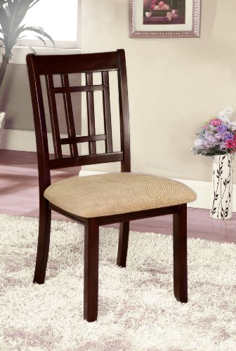 (Furniture of America Mainstream Dining Chair, Dark Cherry, Set of 2)
