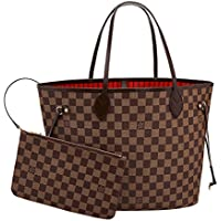 6858f39f67be Louis Vuitton Damier Canvas Neverfull MM Red Shoulder Handbag Article   N41358 Made in France