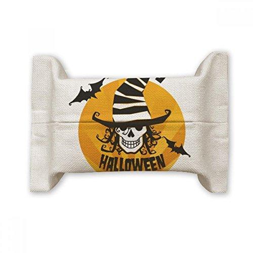 (DIYthinker Skull Marker Wizard Hat Halloween Cotton Linen Tissue Paper Cover Holder Storage Container)