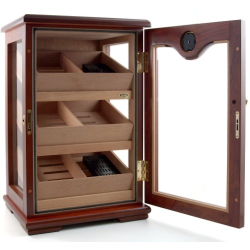 Amazon.com: Cuban Crafters Rosewood Display Cigar Humidor 100 ...