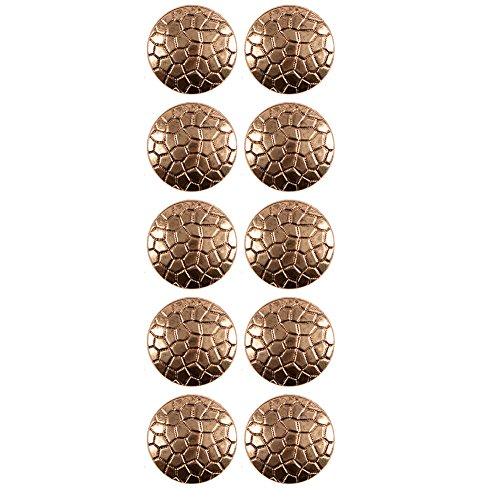 Pattern Shank Buttons (ABS Metal Plated Lizard Skin Pattern Shank Button 28 Line Antique Gold)