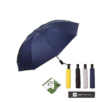Amazon.com: Zen Premium: paraguas compacto invertido ...