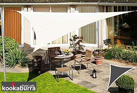 Terrasse Balcon Blanc Polaire Kookaburra Voile dOmbrage Triangle Rectangle 6,0m x 4,2m Ajour/é 320g//m/² HDPE Polyester Respirant Protection Solaire Bloque 93.3/% Rayons UV pour Jardin