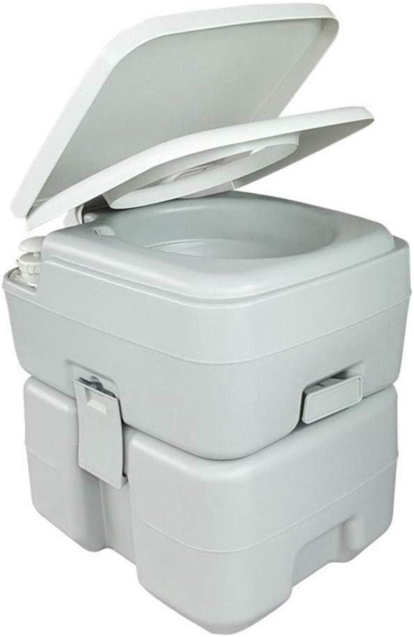 YAP Acampar WC 20L Escalera portátil baños móviles WC químico ...