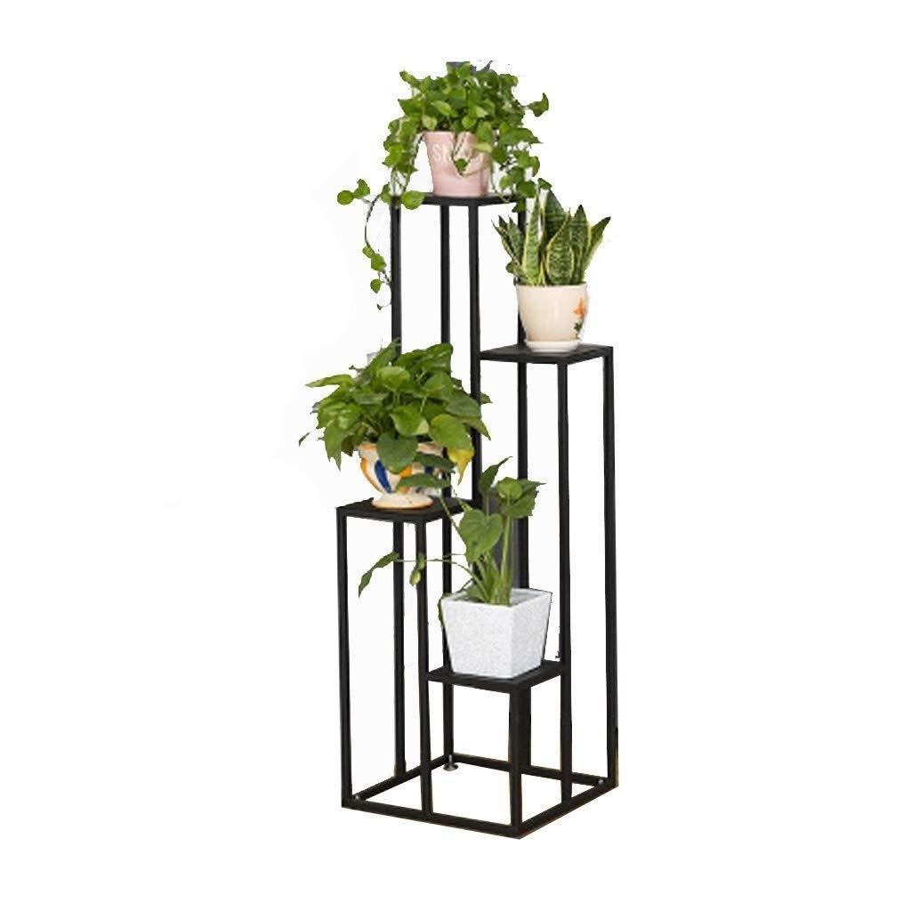 錬鉄製の金属製の花のスタンド、多層/ 4層植物の陳列台、リビングルームの寝室のバルコニー装飾フラワースタンド、多機能ラック、黒 (サイズ さいず : 100cm×40cm×40cm) B07QVJD5H8  100cm×40cm×40cm