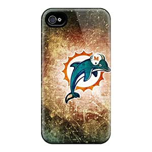 Fashionable Style Case Cover Skin For Iphone 4/4s- Miami Dolphins