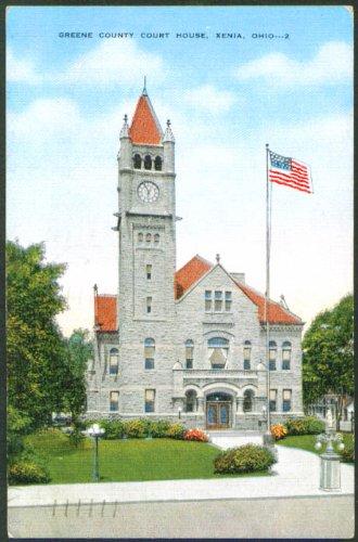 Greene County Court House Xenia OH postcard - The Greene Oh