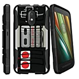 MINITURTLE Case Compatible w/ Motorola Moto G4 Play Case | Moto E3 Case Shell [Clip Armor] Premium Defender Case Hard Shell Silicone Interior w/ Stand and Holster Game Controller Retro