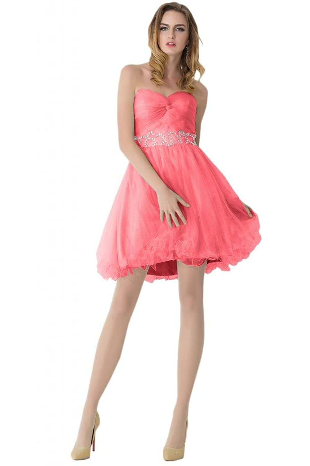 Sunvary Cute Girl's Mini Organza Party Homecoming Dresses Ball Gowns